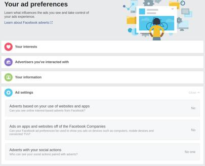 How to delete facebook wired uk however you can view edit and to a limited extent control your ad settings via the ad preferences options ccuart Choice Image