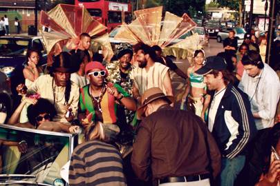 "The Harder They Come: June 2009. A procession of Jamaica-themed floats and cars full of ""gangsters"" filled the Elephant and Castle streets before the film."