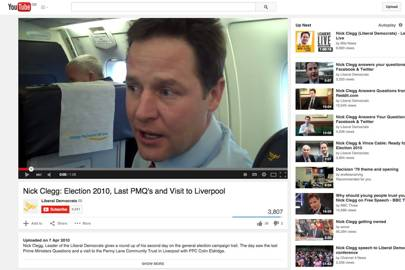 The Liberal Democrats used YouTube to deliver more personal messages to the electorate