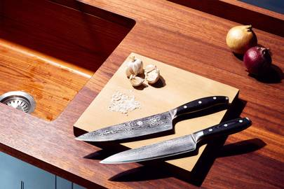 Tsuki Japanese Chef's Knife (above) and Damascus 20cm Chef's Knife