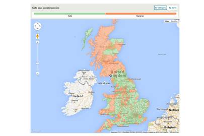 How election maps reveal the politics of geography wired uk safe vs marginal seats the telegraph publicscrutiny Images