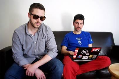 From left, Cody Wilson and Amir Taaki, organisers of Dark Wallet