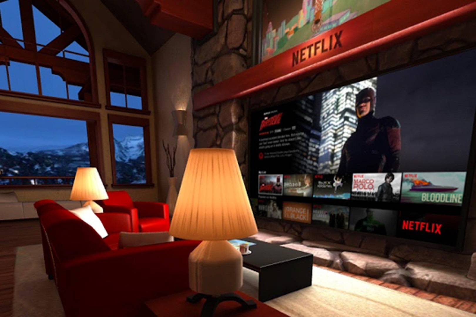 Netflix has built a VR living room for your next series binge