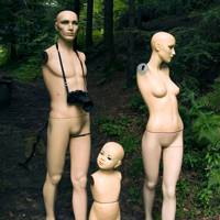 """Dummy family in the forest"""
