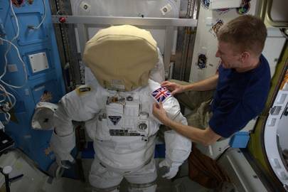 Tim Peake space suit