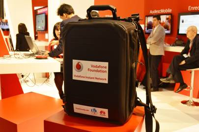 This rucksack contains a mobile network for disaster zones