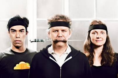 Left-right: Lee Holloway, Matthew Prince and Michelle Zatlyn launched CloudFlare in 2010
