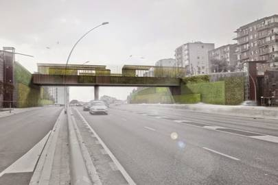 The bridge will be coated in photocatalytic concrete, which neutralises polluted air when it comes into contact with it