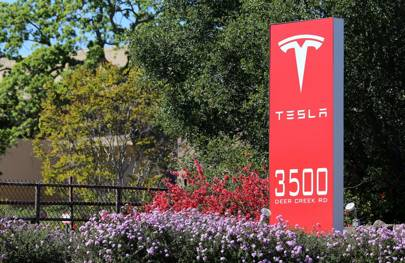 Tesla HQ sign