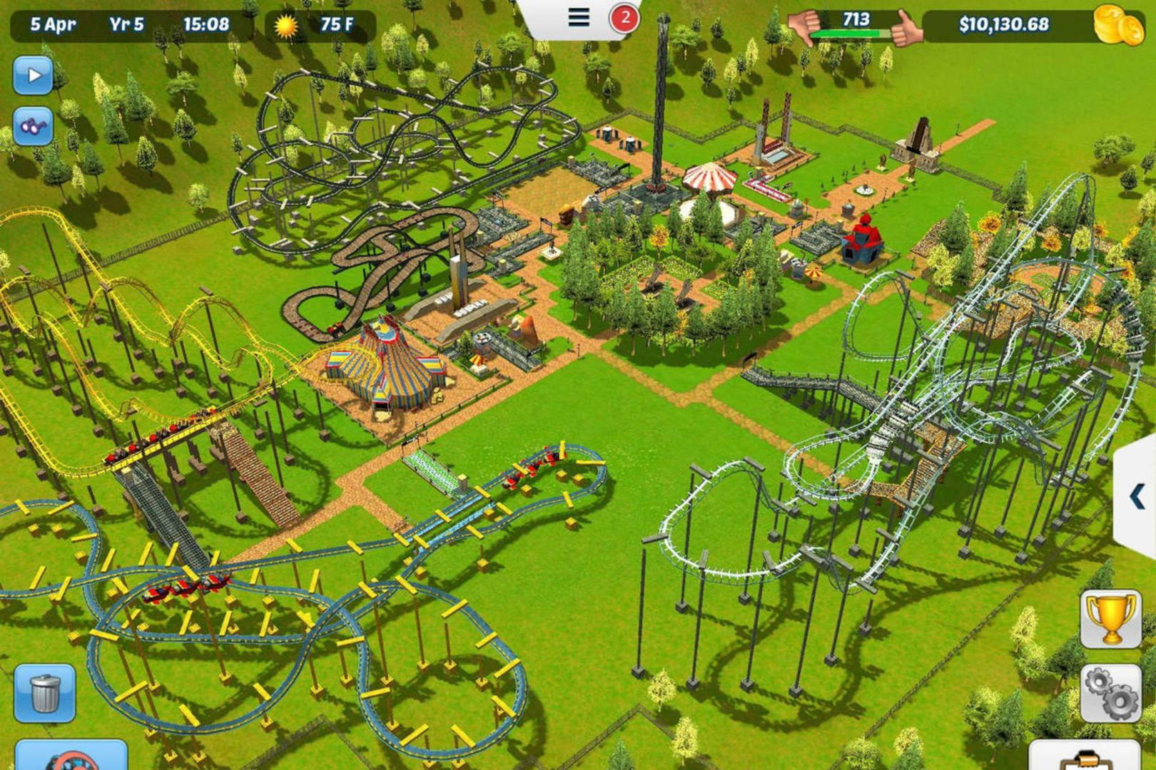 RollerCoaster Tycoon 3 comes to App Store without IAPs