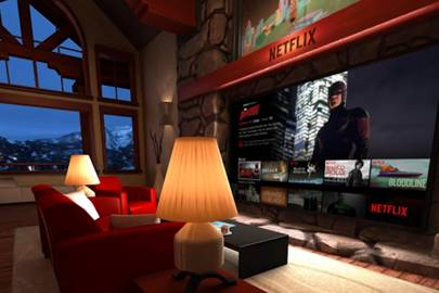 Netflix has built a VR living room for your next series binge