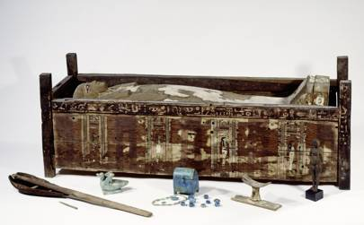 Pictured is a sarcophagus of Tadja from the Abusir el-Meleq region