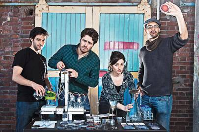 La Paillasse founder members (l-r) Adrien Clavairoly, Thomas Landrain, Marie-Sarah Adeniss and Marc Fournier in their laboratory