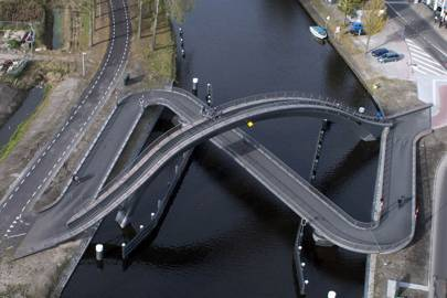 A bridge in northern Amsterdam
