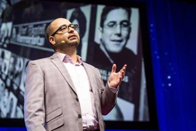 Trevor Aaronson speaks during Fellows Session 2, TED2015 -- Truth and Dare, March 16-20, 2015, Kay Meek Center, West Vancouver, Canada