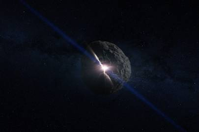 The Bennu asteroid being formed