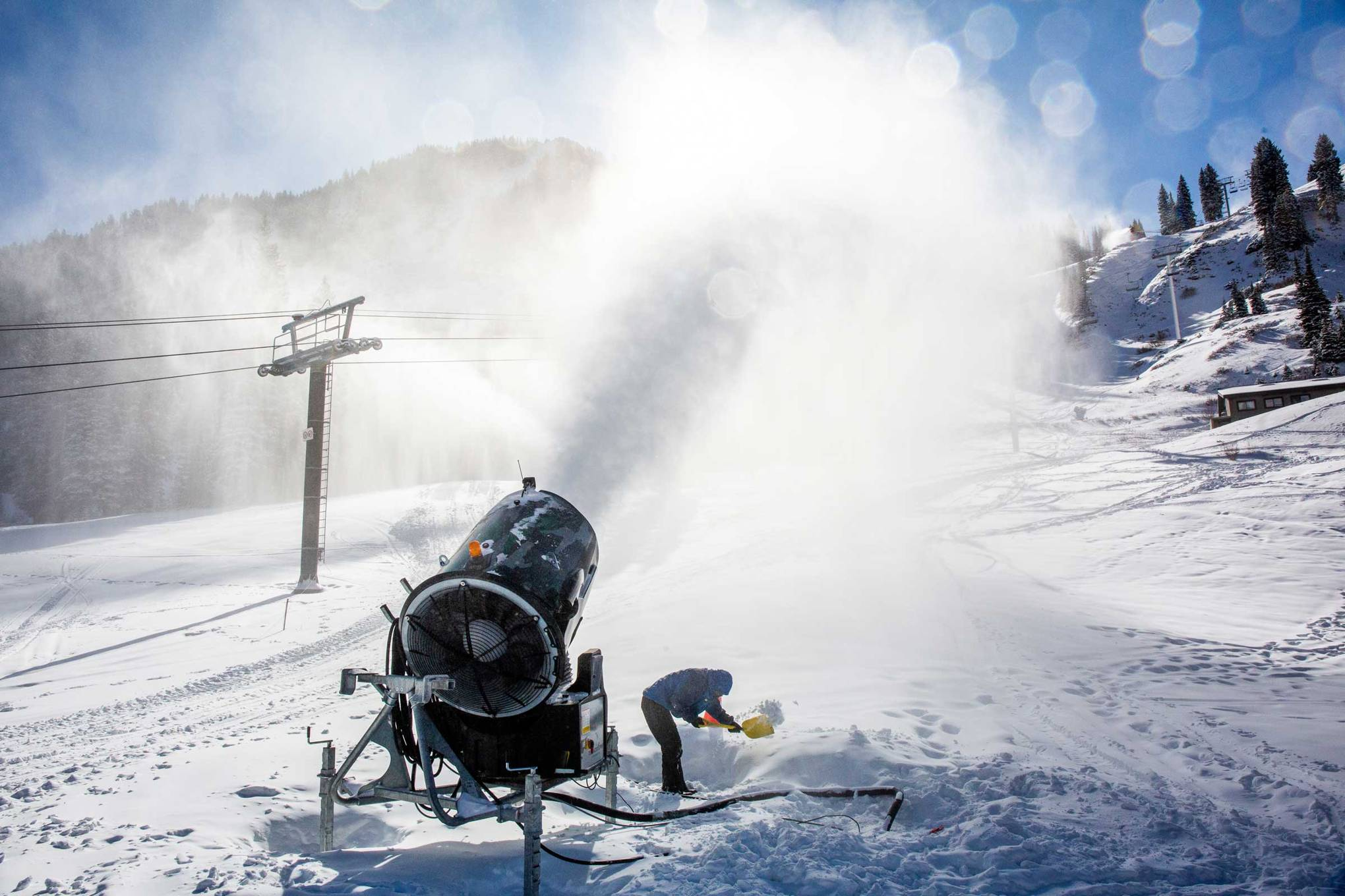 Melting ski resorts are developing a fatal addiction to snow machines