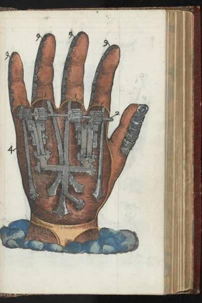 Hand painted wood engraving, 1564