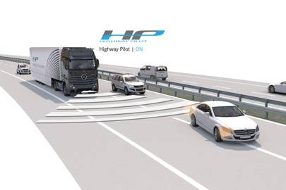 Daimler Highway Pilot self-driving system for trucks