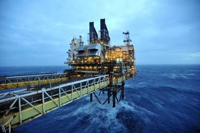 BP's Eastern Tough Area Project oil platform in the North Sea, 100 miles east of Aberdeen, Scotland