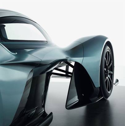 Much of the downforce is created by under-chassis aerodynamics, leaving the surface of the car clean and smooth.