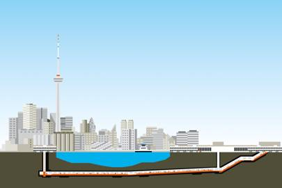 Toronto's underwater airport walkway