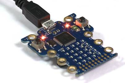 A prototype of the BBC's Micro Bit computer