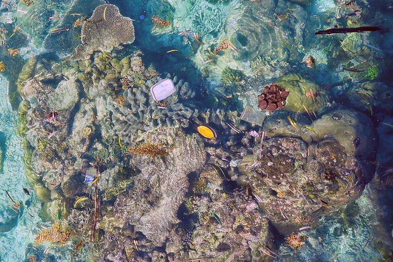 J And J Corals Plastic waste in the o...
