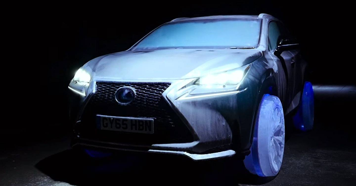 lexus makes car with tyres made of ice wired uk. Black Bedroom Furniture Sets. Home Design Ideas