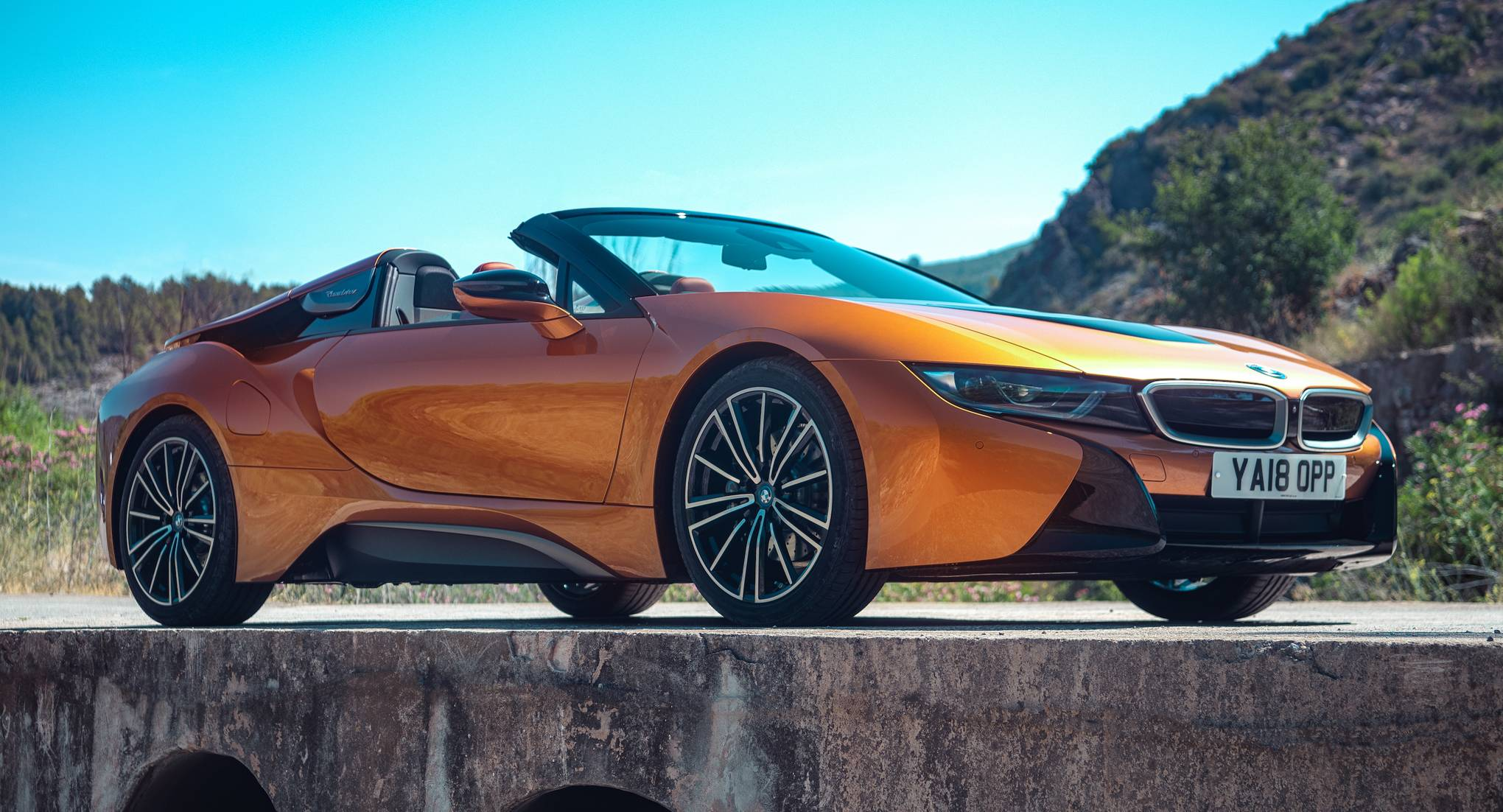 The Bmw I8 Roadster Review A Hybrid Electric Top Down Triumph