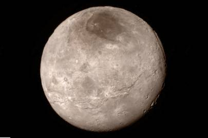 This photo of Charon was taken late on July 13, 2015 from a distance of 289,000 miles (466,000km)