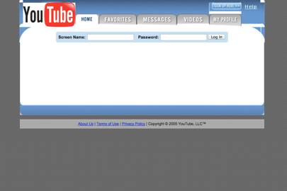 The YouTube homepage on the day of the 2005 general election