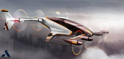 A concept image from Airbus' Project Vahana