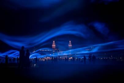Waterlicht by Daan Roosegaarde, King's Cross
