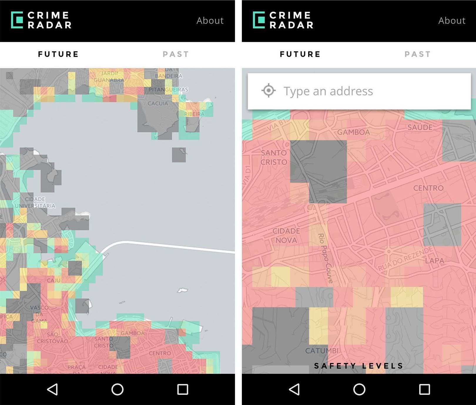 CrimeRadar app uses advanced machine learning to predict ...