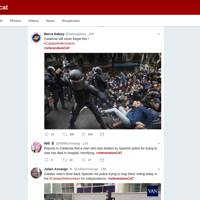 Police violence during Catalan independence referendum documented on Twitter