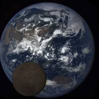 Nasa 'Lunar photobomb' of the moon passing Earth