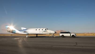 Taxi test with SpaceShipTwo