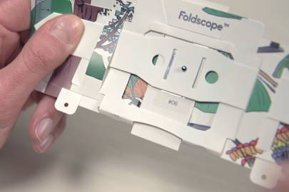 Foldscope's origami microscope smashes its Kickstarter target in less than 24 hours