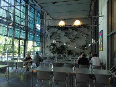 The staff restaurant at the Max Planck Institute for Molecular Cell Biology and Genetics in Dresden, Germany