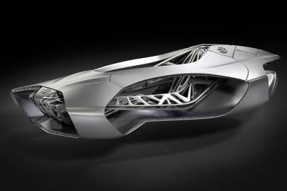 3D printed car inspired by turtle skeleton