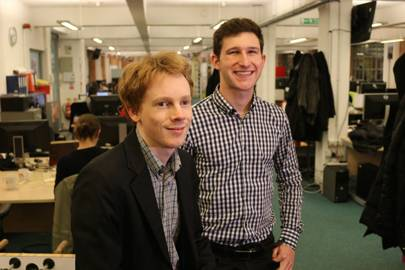 Newsflo founders Ben Kaube and Freddie Witherden