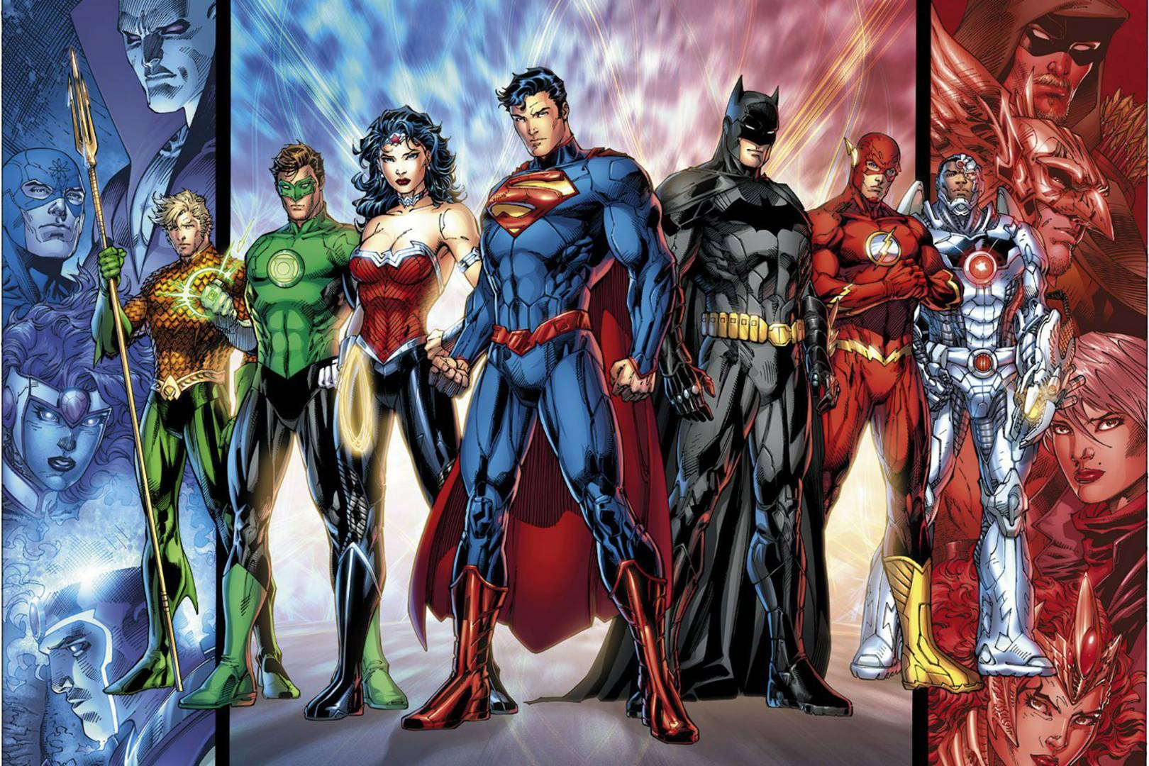 DC Comics Restores Its Superhero Legacy With DC Rebirth WIRED UK - Superheroes re imagined as if they were sponsored by big brands