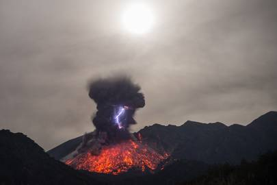 Sakurajima eruption