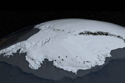 Bedmap2's image of Antarctica's icy surface