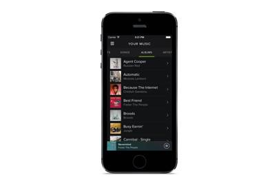 New Spotify iPhone design