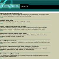 10 Downing Street website, 2001