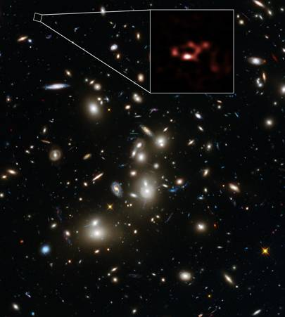 Distant galaxy yields evidence of the earliest generation of stars