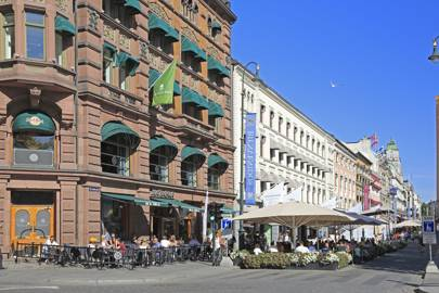 Europe, Norway, Oslo, Pavement Cafe and Restaurant