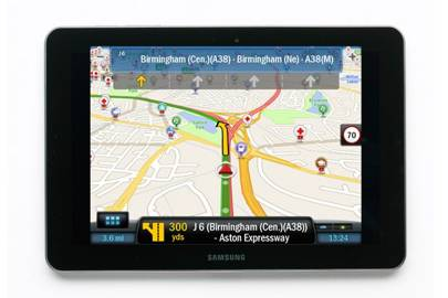 Copilot Live Premium HD Europe app / Samsung Galaxy Tab 10.1